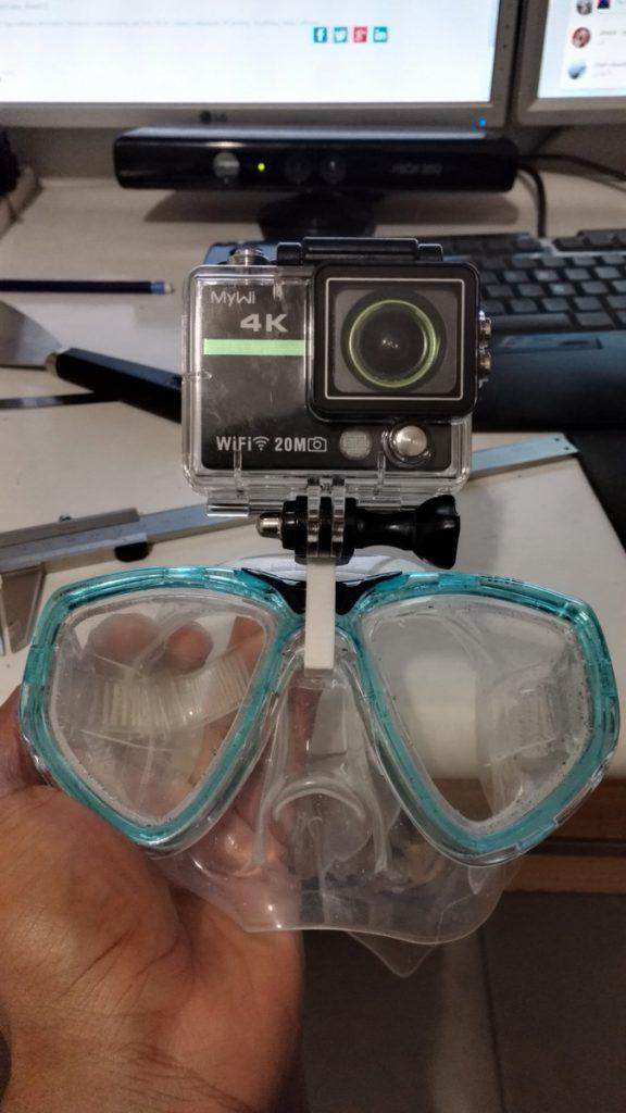 Karaïb 3D Karaïbe Karaïbes Caraïbes Caraïbe Impression conception fabrication numérique imprimante Support de GoPro pour masque