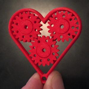 Karaïb 3D Karaïbe Karaïbes Caraïbes Caraïbe Impression conception fabrication numérique imprimante Porte clé engrenages cœur