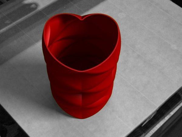 Karaïb 3D Karaïbe Karaïbes Caraïbes Caraïbe Impression conception fabrication numérique imprimante Vase love