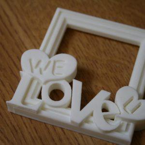 """Karaïb 3D Karaïbe Karaïbes Caraïbes Caraïbe Impression conception fabrication numérique imprimante Cadre photo """"We love you"""""""