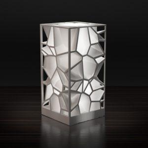 Karaïb 3D Karaïbe Karaïbes Caraïbes Caraïbe Impression conception fabrication numérique imprimante Lampe Voronoi carrée