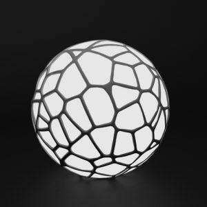 Karaïb 3D Karaïbe Karaïbes Caraïbes Caraïbe Impression conception fabrication numérique imprimante Lampe Voronoi sphérique