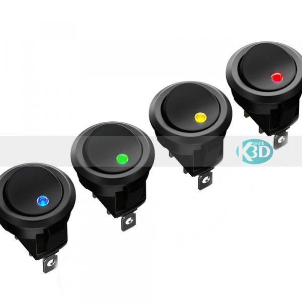 Karaïb 3D Karaïbe Karaïbes Caraïbes Caraïbe Impression conception fabrication numérique imprimante Interrupteur 2 positions 12v LED couleur -2