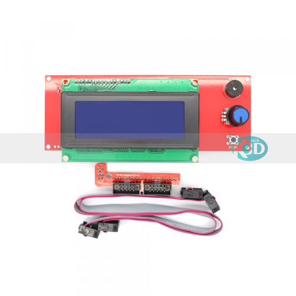 Karaïb 3D Karaïbe Karaïbes Caraïbes Caraïbe Impression conception fabrication numérique imprimante ecran LCD 2004 smart controller avec nappes et connecteur ramps 1.4 - 1