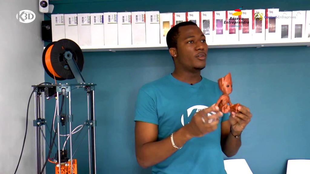 Karaïb 3D Karaïbe Karaïbes Caraïbes Caraïbe Impression conception fabrication numérique imprimante Karaïb 3D fait forte impression à Contact-Entreprises et Réseau Entreprendre